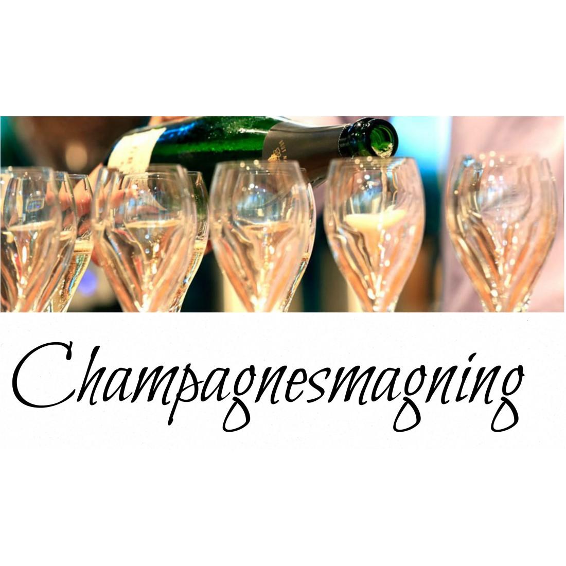Champagnesmagning i Århus Onsdag den 18 december kl. 19.00-31