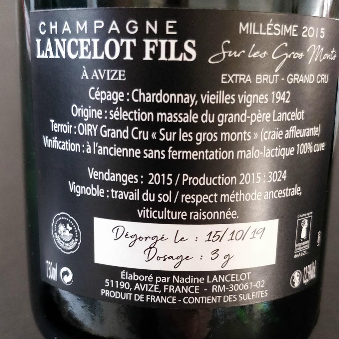 """Lancelot Fils """"Sur Les Gros Monts"""" 2015 Grand Cru-31"""